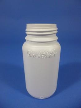 0,25 Liter Flasche, rund, weiß, COEX