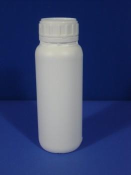 0,5 Liter Flasche, rund, weiß, Flour