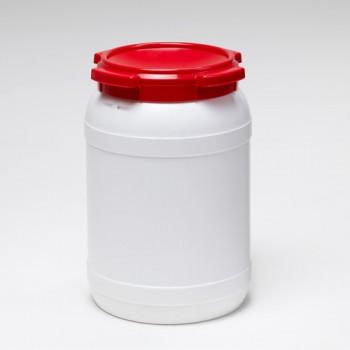 20 Liter Schraubdeckelfass, PE, weiß,