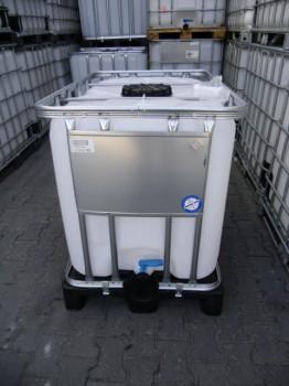 600 Liter Container, PE, natur, DN50