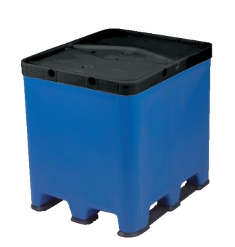 1.000 Liter Poly IBC UC-S, PE, schw/nat,