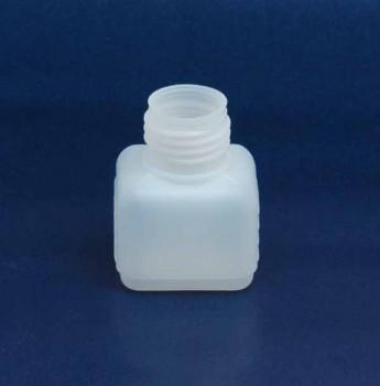30 ml Flasche D, PE, natur, eckig, 5g