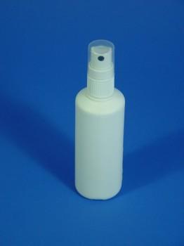100 ml Flasche, PE, weiß, rund, 11g