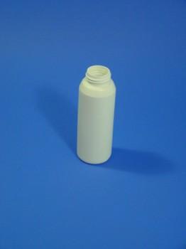 100 ml Flasche, PE, weiß, rund,