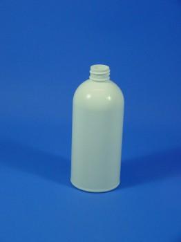 500 ml Flasche B, PET, weiß, rund, 29g