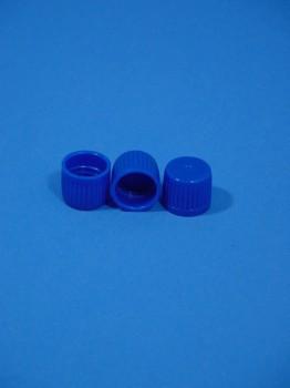 Verschluss DIN 16, PE, blau,