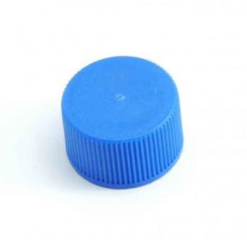 Verschluss DIN 25, PP, blau,