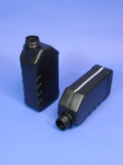 1 Liter Oelkanister, PE, schwarz,