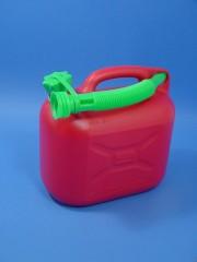 5 Liter Benzinkanister, PE, rot,
