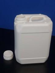 5 Liter Kanister, PE, weiss, fluoriert,