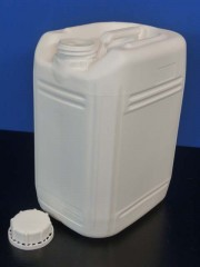 11 Liter Kanister, PE, weiss, fluoriert,