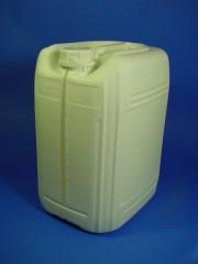 20 Liter Kanister, PE, weiss, flouriert,