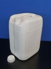 20 Liter Kanister, PE, weiss, fluoriert,
