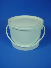 3,0 Liter Eimer, PP, weiß, rund-konisch,