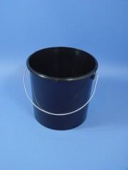 5 Liter Eimer, PP, schwarz,rund-konisch,