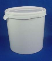 21,5 Liter Hobbock, PP, weiß, rund