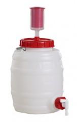 10 Liter Getränkefass, HDPE, natur