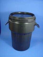40 Liter Schraubdeckelfass, PE, schwarz,