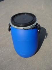 60 Liter SDFass, PE, blau, rund, 2,9kg