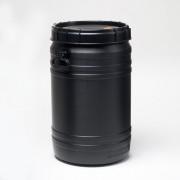 75 Liter Schraubdeckelfass, PE, schwarz,