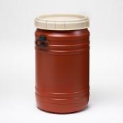75 Liter Superweithalsfass, PE, braun,