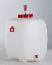100 Liter Getränkefass, HDPE, natur