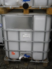 1.000 Liter Container, PE, natur, DN80