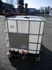 1.000 Liter Container, PE, natur, DN50