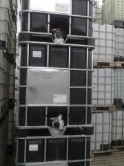 1.000 Liter Container, PE, schwarz, DN50