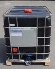 1.000 Liter Container, PE, schwarz, DN80