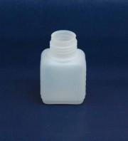 50 ml Flasche D, PE, natur, eckig, 7g