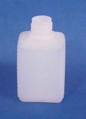 150 ml Flasche V, PE, natur, eckig,