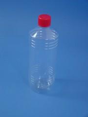 1000 ml Flasche T, PET, klar, rund, 34g,