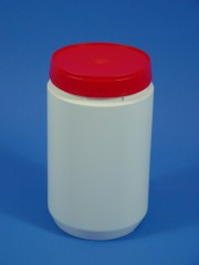 1000 ml Runddose, HDPE, weiss, 50g
