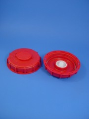 150 mm Deckel rot für 1000 ltr IBC UN